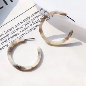 feather light acrylic hoops earrings